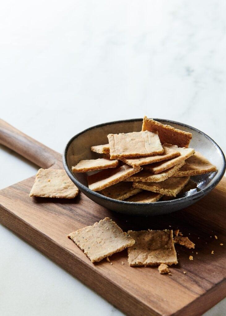 Vegan Almond Crackers