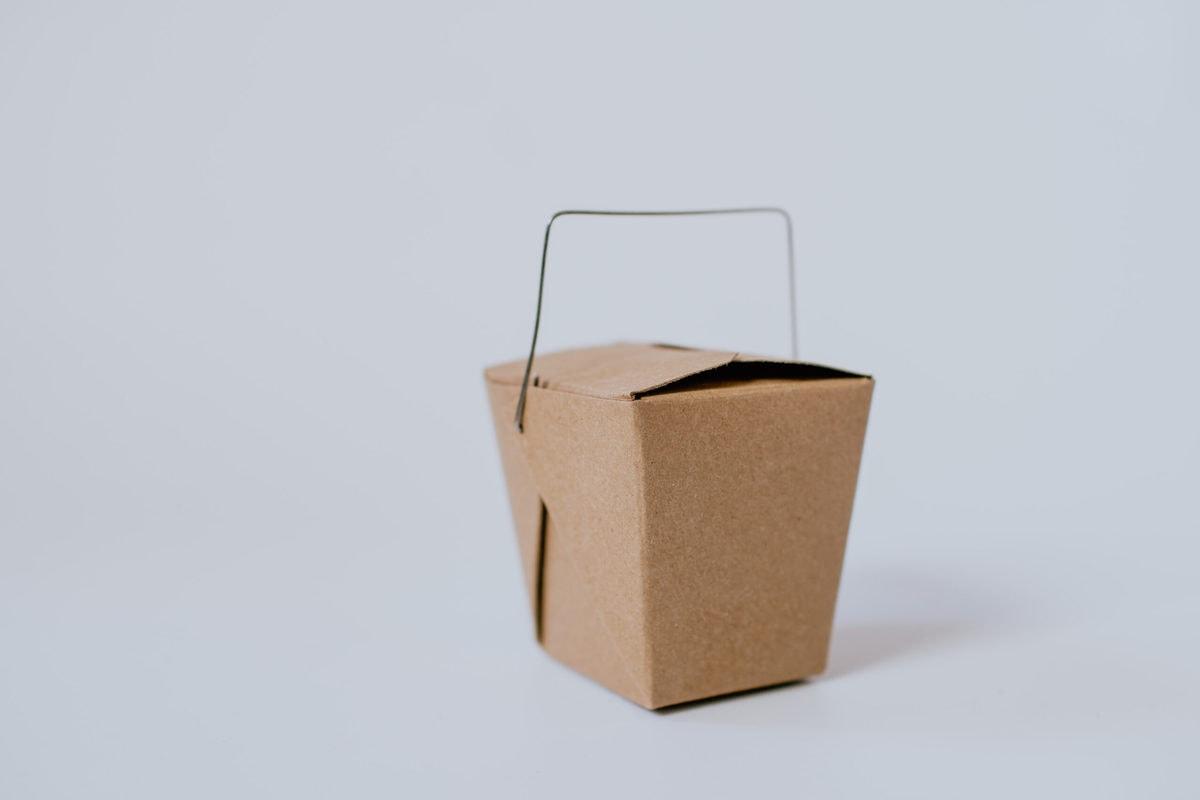 Brown Takeout Box